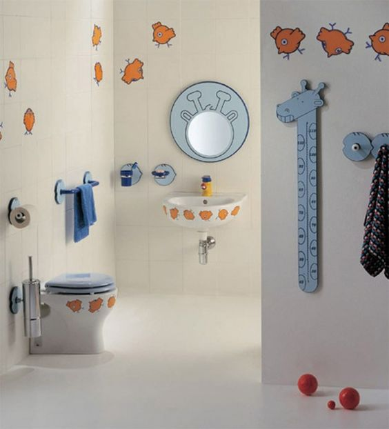 30 Colorful and Fun Kids Bathroom Ideas: