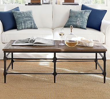 Parquet 54 Rectangular Reclaimed Wood Coffee Table Coffee Table Pottery Barn Reclaimed Wood Console Table Coffee Table