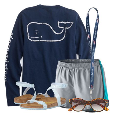 """""""🐳"""" by flroasburn ❤ liked on Polyvore featuring NIKE, Birkenstock and H&M"""