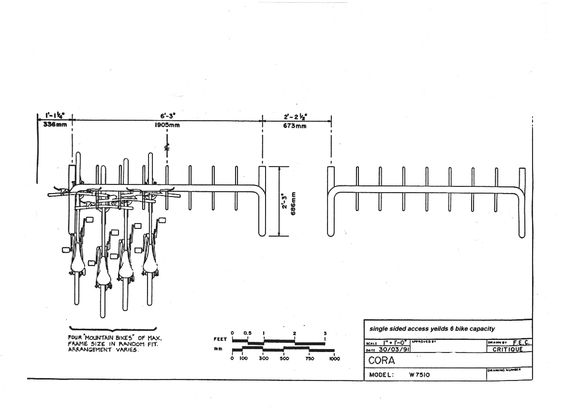 bike rack dimension landscape plan pinterest bikes. Black Bedroom Furniture Sets. Home Design Ideas
