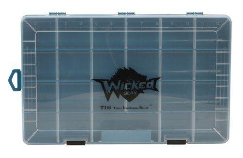 Wicked Gear T.I.S. Plastic organizer Box - http://bassfishingmaniacs.com/?product=wicked-gear-t-i-s-plastic-organizer-box
