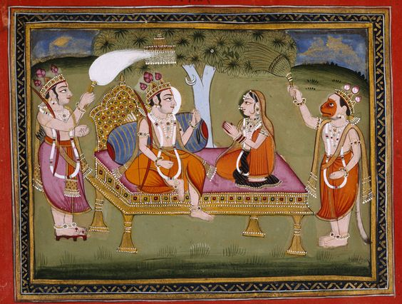 Lord Rama and Sita, painting c 1653.