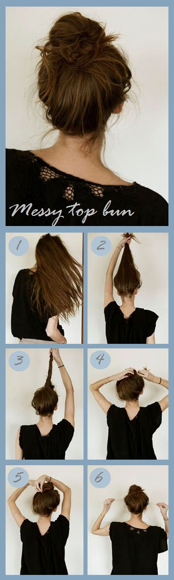 Messy top bun // pretty much how I do it