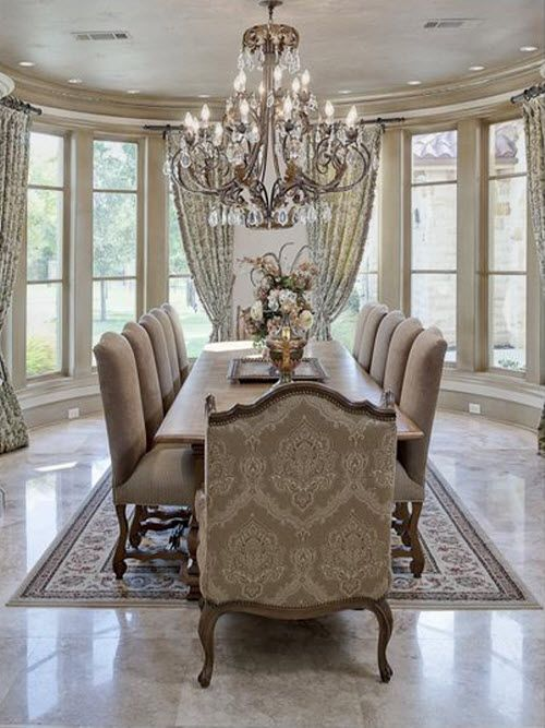 Gorgeous dining room exclusive furniture designer for Formal dining room decor