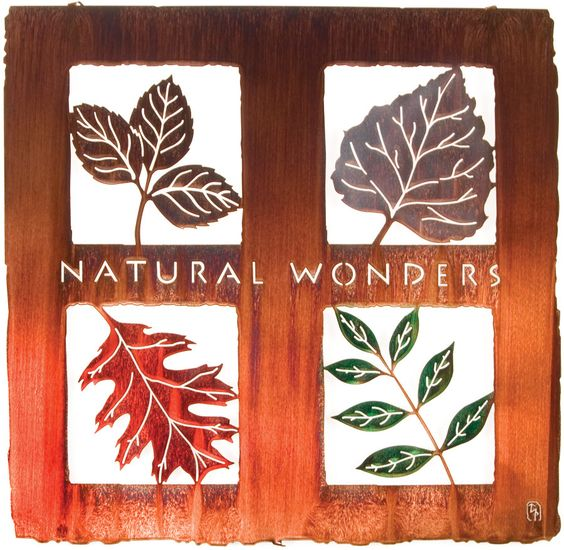 Natural Wonders Laser Cut Metal Wall Art