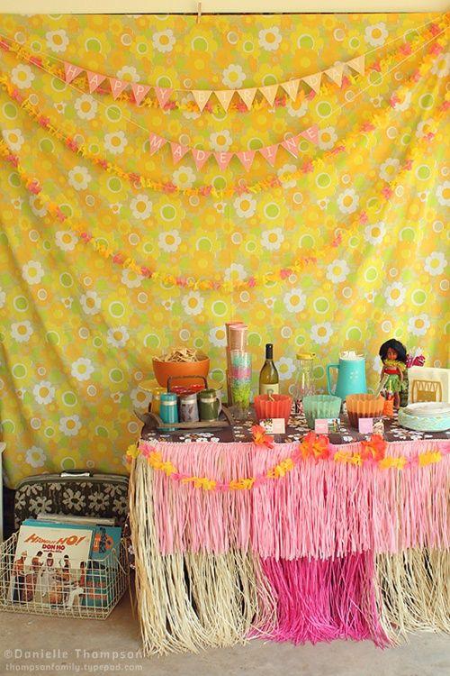 fiesta hawaiana Fiesta infantil Hawaiana vintage... ¡Aloha, baby!