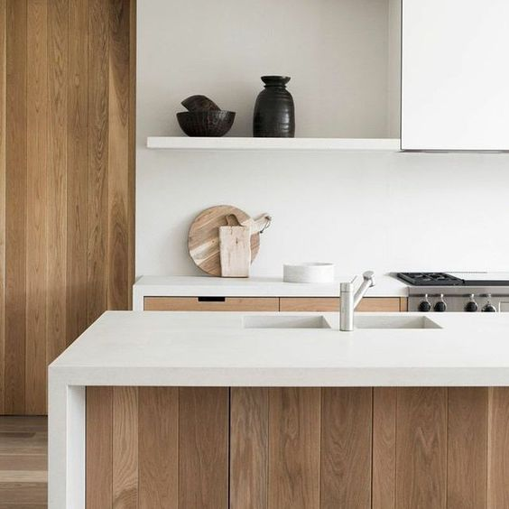 #cleanlines and #warmth with #oak and #jarpur recent kitchen completed