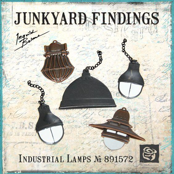 Junkyard Findings by Ingvild Bolme - Prima Industrial Lamps Metal embellishments