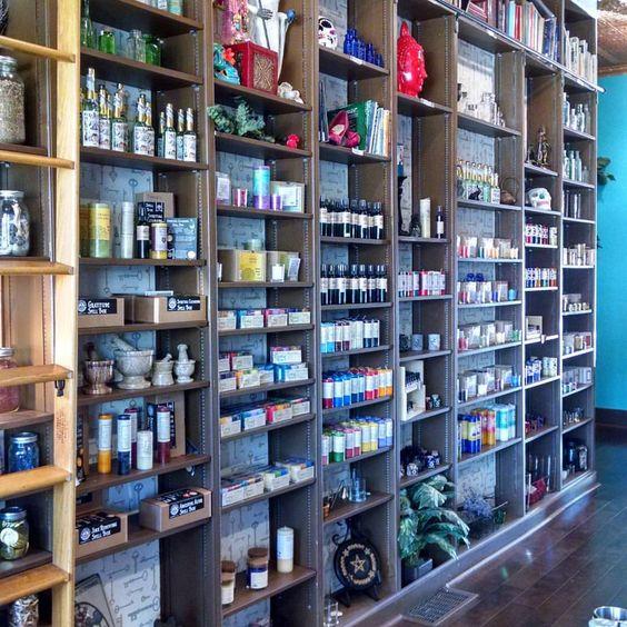 Herb storage shelves!   Instagram photo by @stephaniecummings_tarotreading •