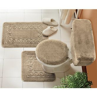 5 Piece Scroll Bath Rug Set A BATHROOM Pinterest