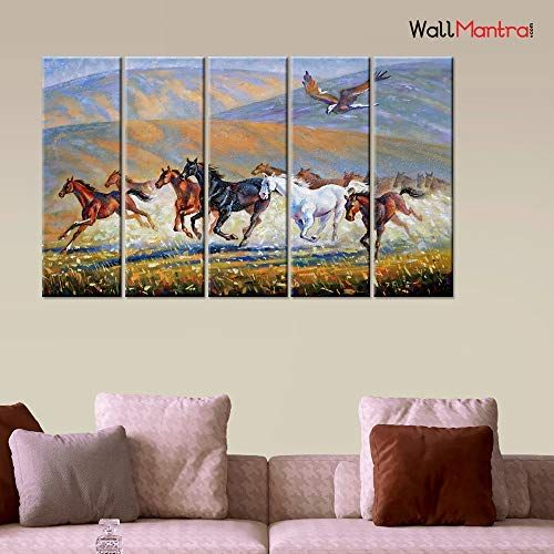 Horse Strectched Canvas Prints Framed Wall Art Home Office Decor Painting Gift