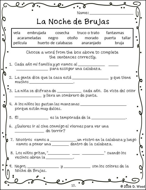 Printables Bilingual Worksheets pinterest the worlds catalog of ideas bilingual spanish english reading on celebration halloween it includes a total of