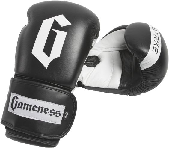 G4015 Black Strike Gloves boxing muay thai MMA kickboxing hand protection gear #GAMENESS