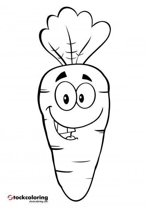 Carrot 8 Horse Coloring Pages Coloring Pages Cartoon Coloring Pages