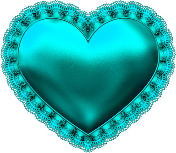 TEAL BLUE HEART *: