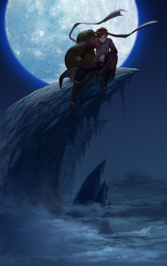 大きな月と我愛羅