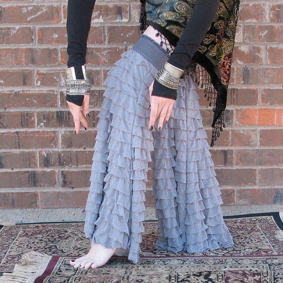 Tribal Belly Dance Gypset Gaiters Urban Dove by WearableDarkness