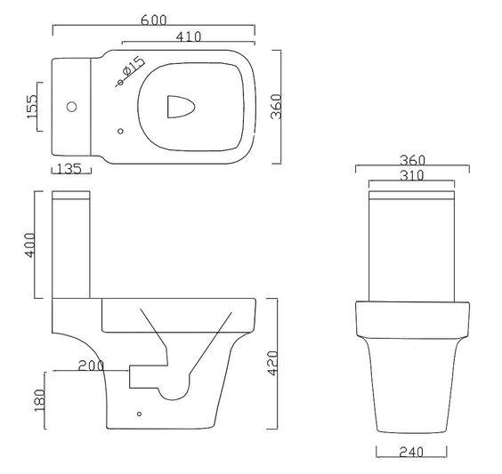 Space Saving Toilet Dimensions Oceane Space Saving ToiletAffine