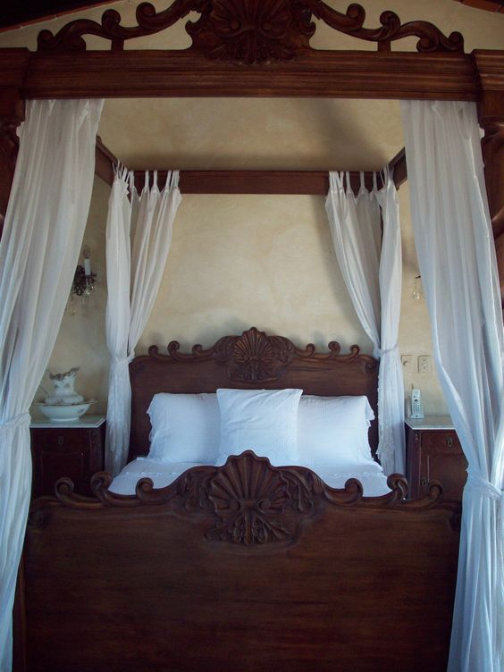 Achieve spanish style room by room wooden beds for Spanish style bed