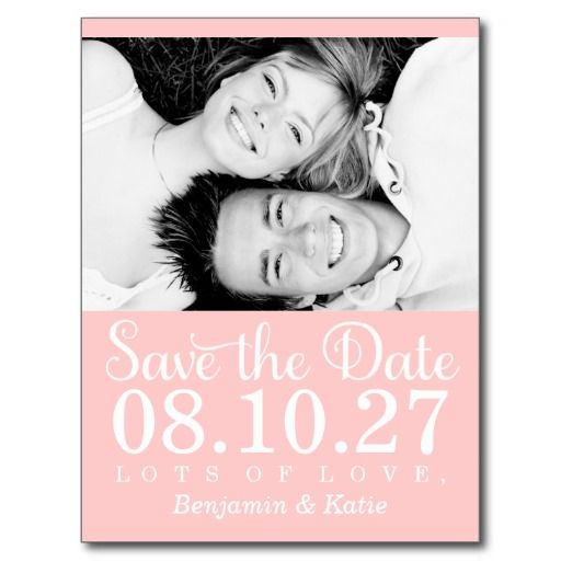 311 Save the Date Photo Postcard Peach COLOR SCHEME