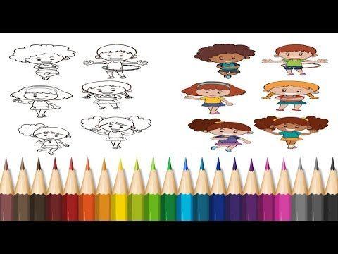 رسوم وصور متحركة تلوين أولاد وبنات توجد هدية داخل الفيديو Coloring T Chocolate Pencil