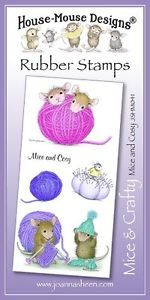 House Mouse Unmounted Rubber Stamp Sets - Mice & Crafty £8.45