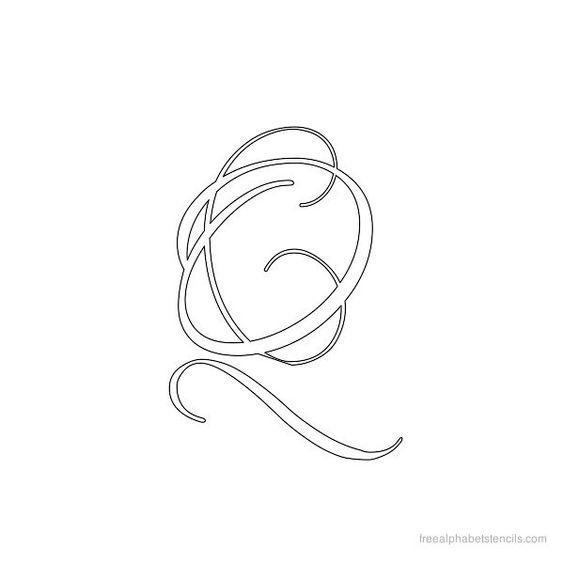 Calligraphy Alphabet Stencil Q Letter Q Pinterest