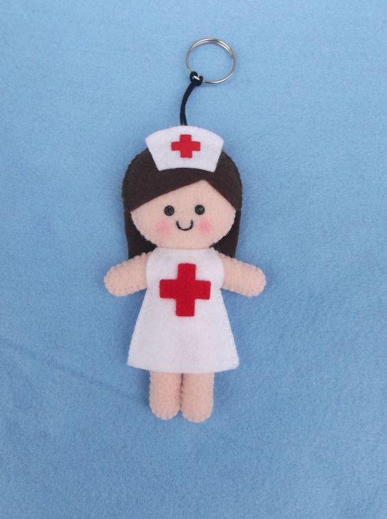 Chaveiro personalizado enfermeira - encomendas pela minha página no facebook  https://www.facebook.com/Boutique-Geek-190519287960073/?fref=ts