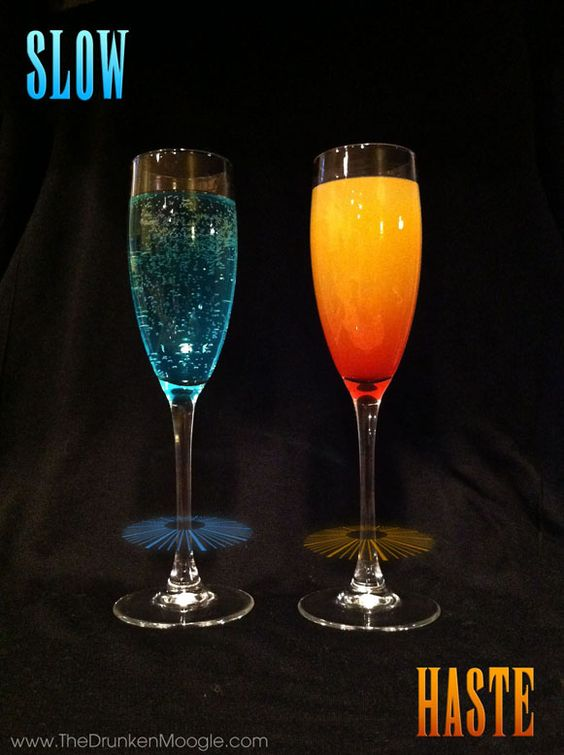 Slow and Haste, Final Fantasy cocktails