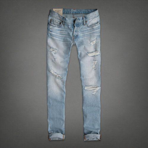 A&F skinny jeans - destroyed light wash