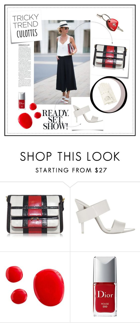 """""""Tricky Trend : Culottes"""" by lovaconsultancy on Polyvore featuring mode, Post-It, Marni, Alexander Wang, Ferrari, Christian Dior, Forzieri, TrickyTrend et culottes"""