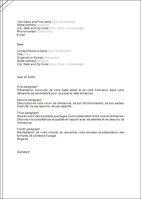 exemple lettre de motivation working holiday
