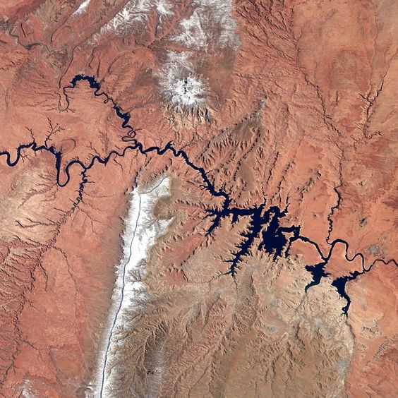 """Lake Powell"" #AstroButch  Phot Credit Barry Wilmore:  127F1336  #nasa #nasajsc…"