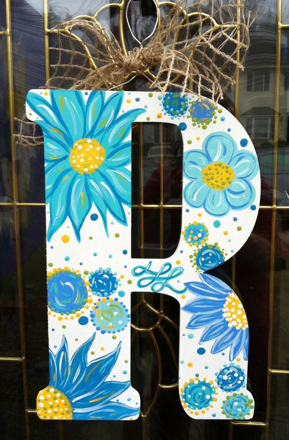 18 Inch Wooden Letters Custom Painted You Pick By