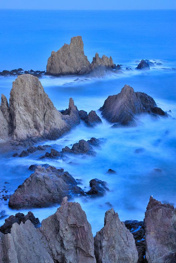 Blue sunset at the sirens art print pinterest in the for Cabo de gata spain