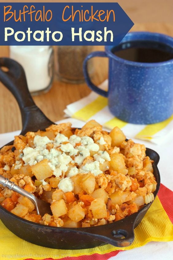 Chicken potatoes, Potato hash and Buffalo chicken on Pinterest