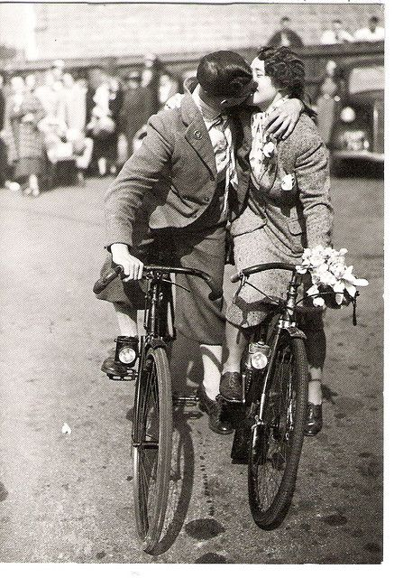 cycling and kissing: