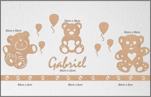 decoração de parede tema urso para quarto de bebe em mdf - Pesquisa Google