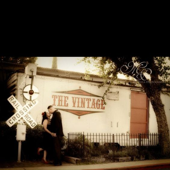 Vintage themed engagement pictures by Marisela Photography