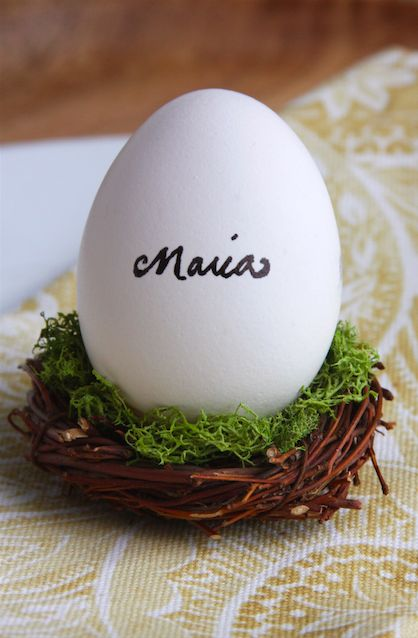Easter Egg Place Setting: