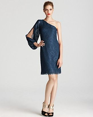 Laundry by Shelli Segal Lace Dress - One Shoulder | Bloomingdale's.   Omg I so love this.