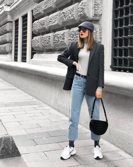 White sneakers outfit