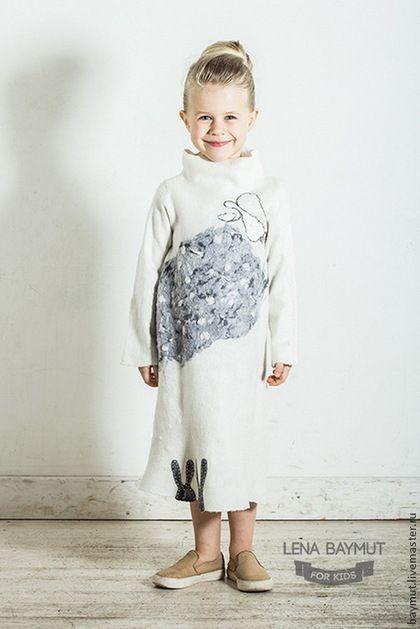 """Felted dress for girl / Одежда для девочек, ручной работы. Ярмарка Мастеров - ручная работа. Купить Валяное платье """"Снежный ангел"""". Handmade. Белый, ангел"""