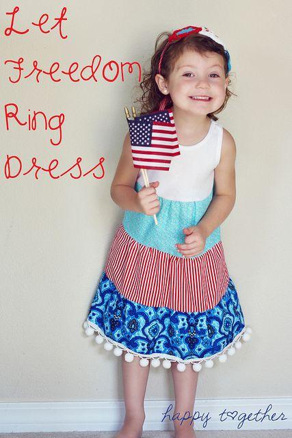 Let Freedom Ring Dress by ohsohappytogether, via Flickr