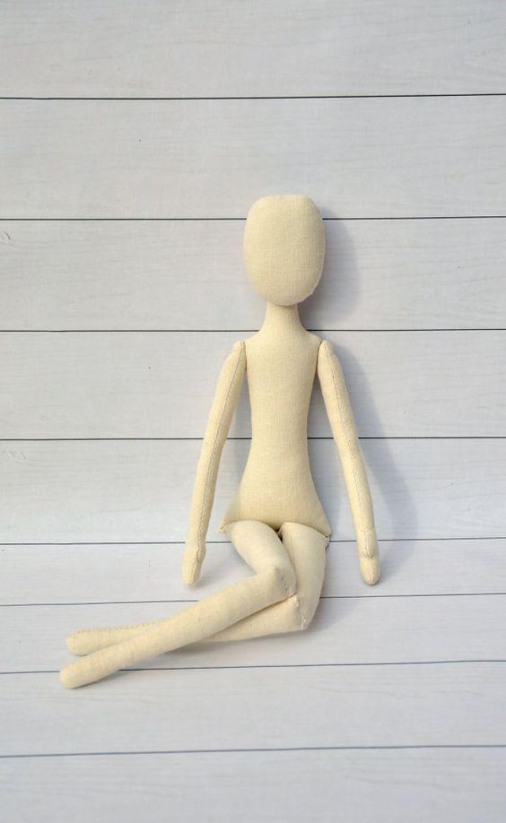 """Blank doll body-18"""",blank rag doll, ragdoll body,the body of the doll made of cloth:"""