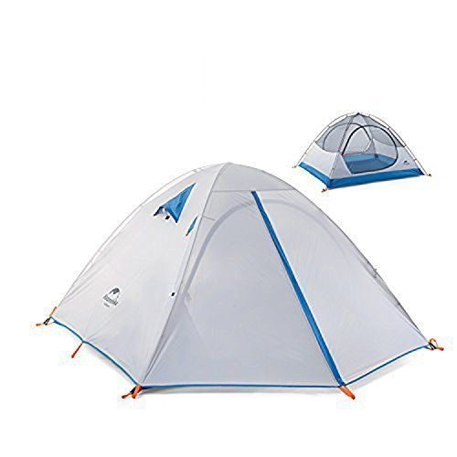 Topnaca 2-3 Person 3 Season Backpacking Tent Waterproof Windproof Double Layer Double Doors Double Skylight Aluminum Rod for C&ing Hiking Traveu2026  sc 1 st  Pinterest & Topnaca 2-3 Person 3 Season Backpacking Tent Waterproof Windproof ...