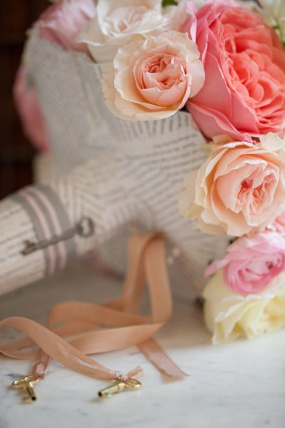 incorporating newspaper or other elements that aren't typical in a bouquet could be a fun way to change things up and add personality