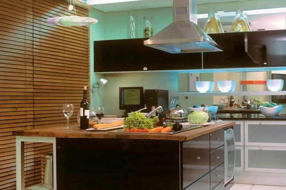 Decoracion con persianas para cocina