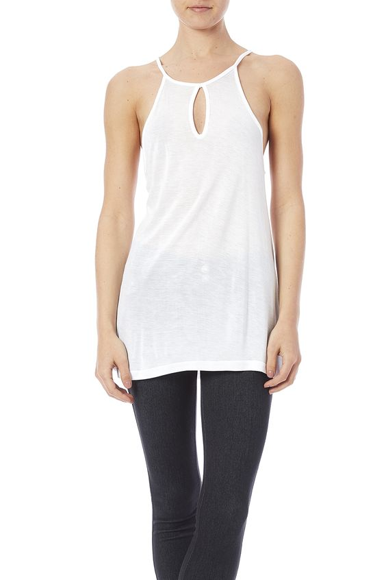 Bamboo tank features a sexy front loop cut-out and spaghetti straps. Material feels soft and airy with a slinkyfeel.  Bamboo Tank by Daisy's Fashions. Clothing - Tops - Sleeveless Ohio