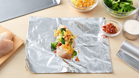 Chicken-Bacon-Ranch Foil Packs